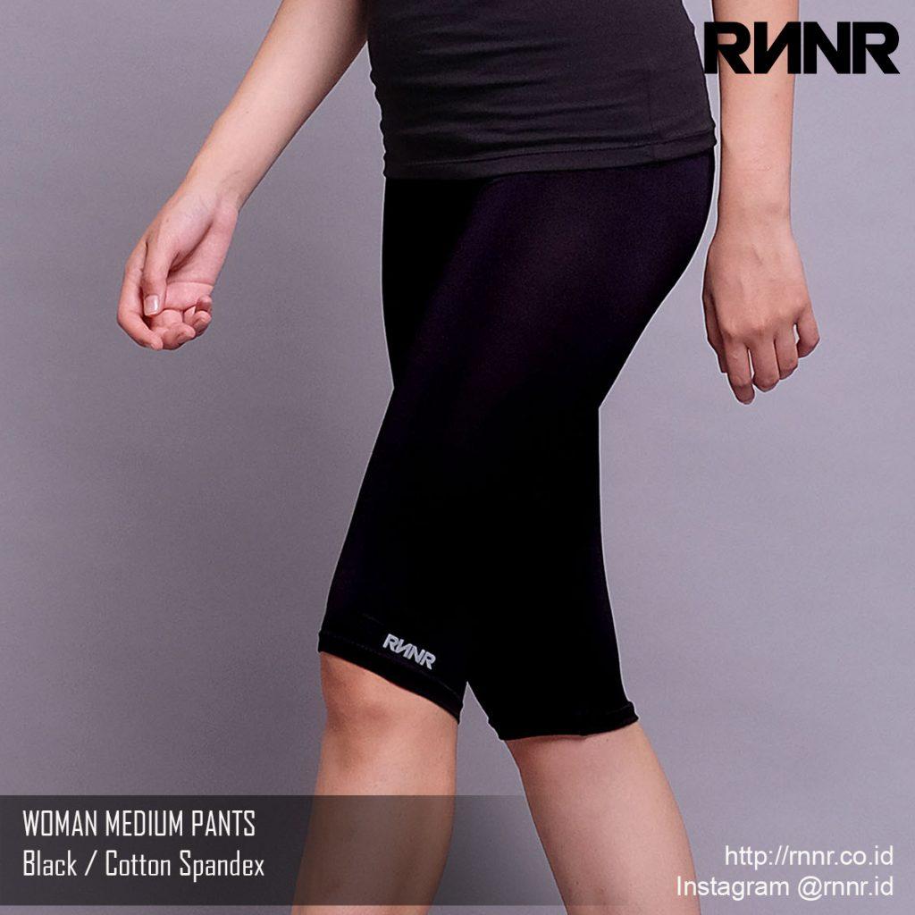 Celana Olahraga Celana Lari Wanita Legging 3 4 Warna Hitam Rp 55 000 Rnnr