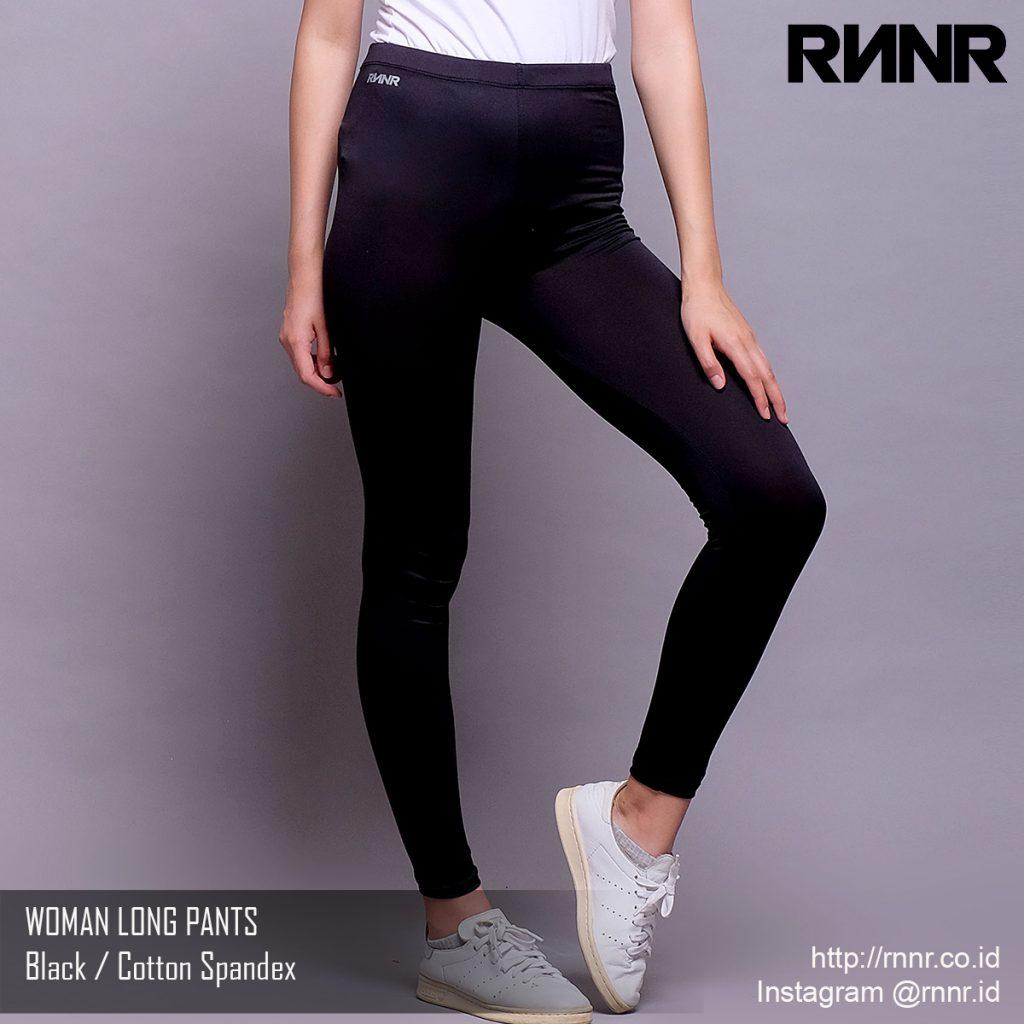 Celana Olahraga Celana Lari Wanita Legging Panjang Warna Hitam Rp 65 000 Rnnr