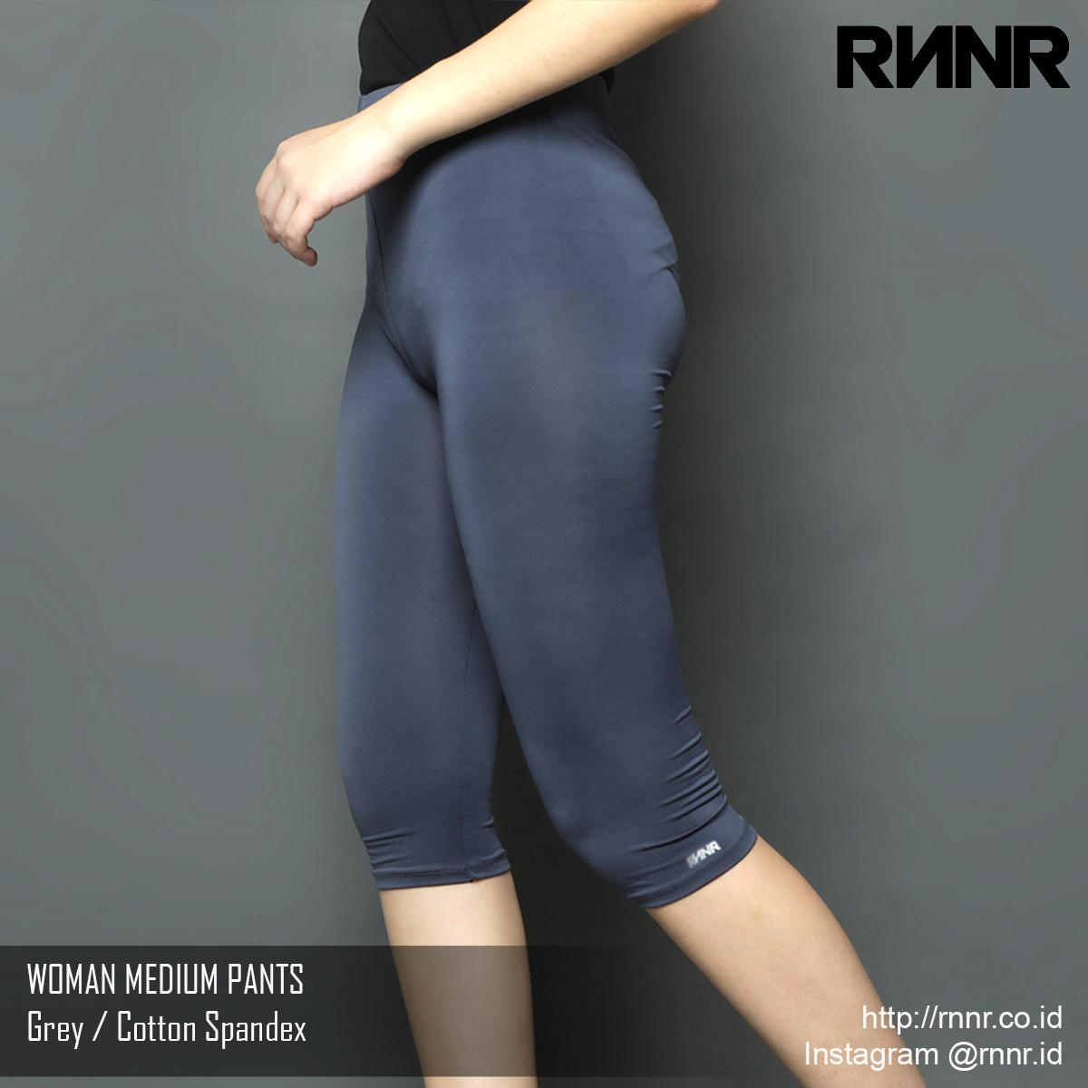 Celana Olahraga Celana Lari Wanita Legging 3 4 Warna Grey Rp 55 000 Rnnr